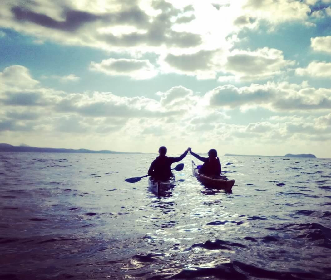 Sea kayak sunset experience in Ibiza
