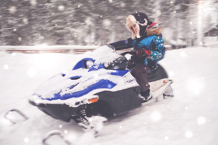 Snow Mobile in Spain