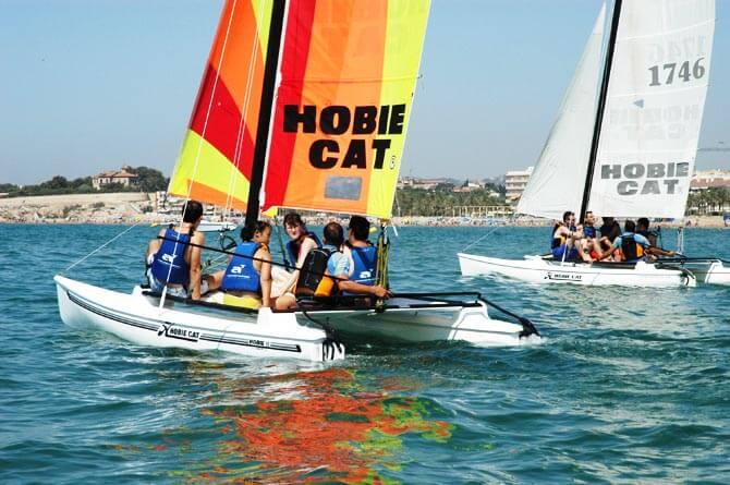 Catamaran in Spain